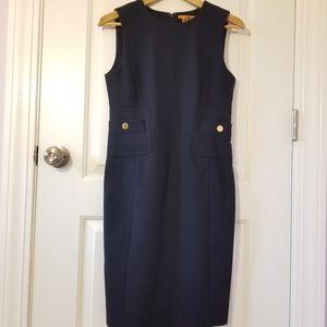 Tory Burch Navy Wool Blend Dress Size 2